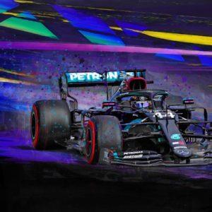 Black Magic - Lewis Hamilton by Alan Greene