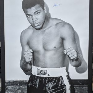 Poster Signed by Muhammad Ali